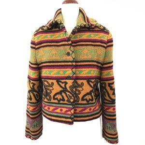 Byblos Western Style Virgin Wool Jacket